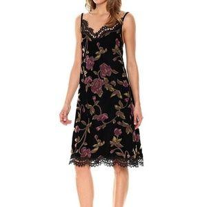 Black velvet floral Max Studio dress